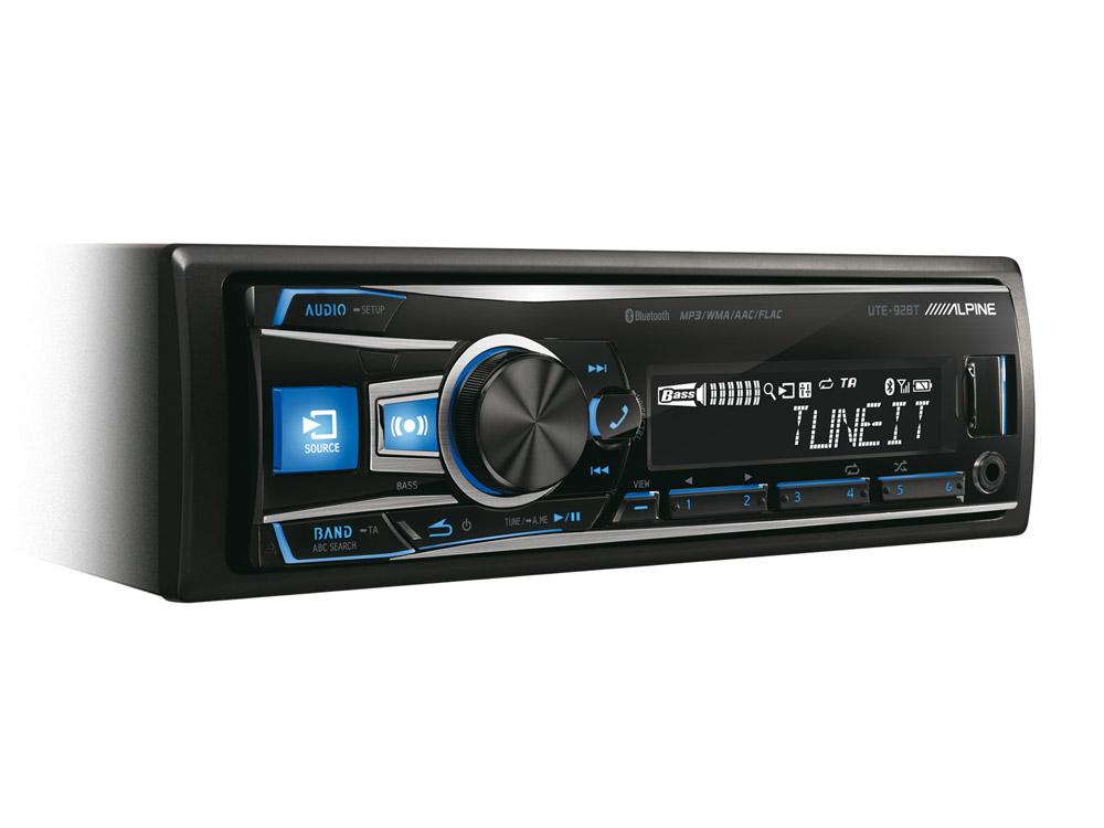 Digital Media Receiver with Bluetooth Alpine UTE 92BT
