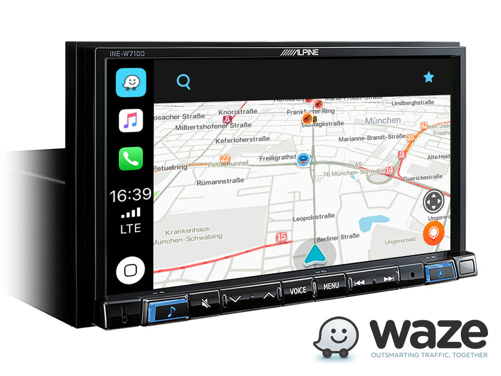 """7"""" Touch Screen Navigation with TomTom maps, compatible with"""