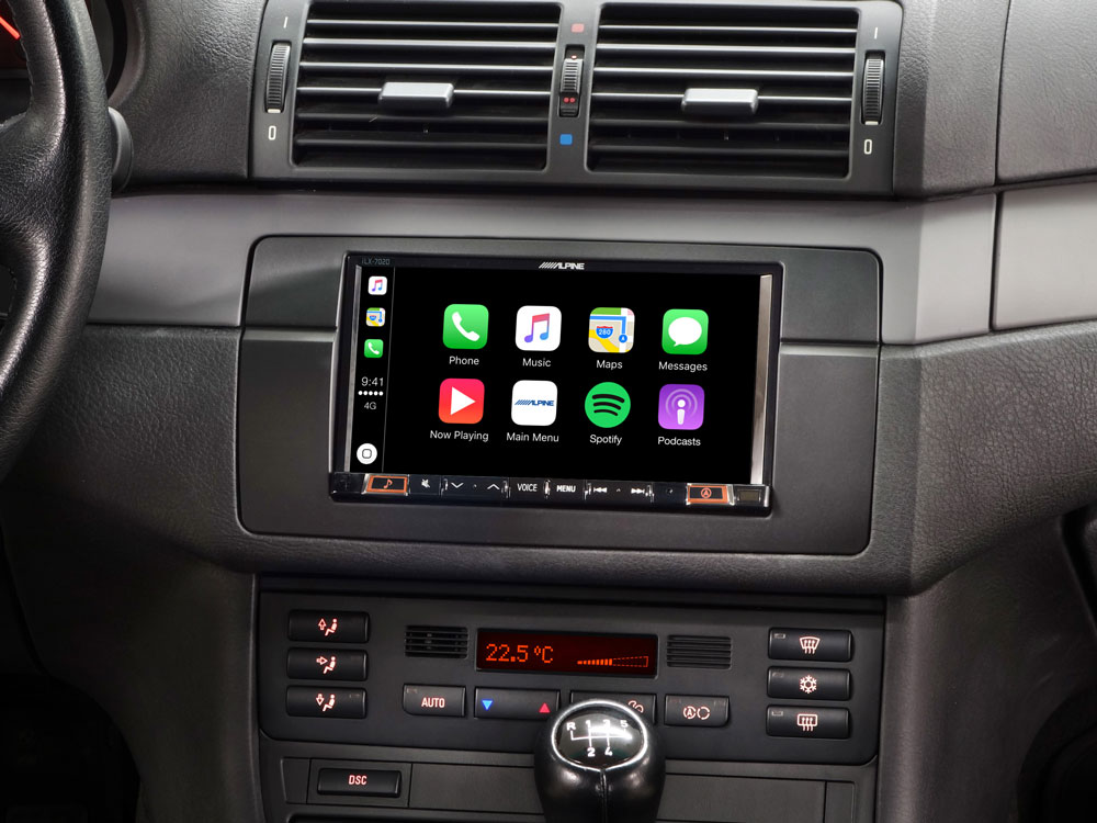 """7"""" Mobile Media System for BMW 3-series E46 featuring Apple"""