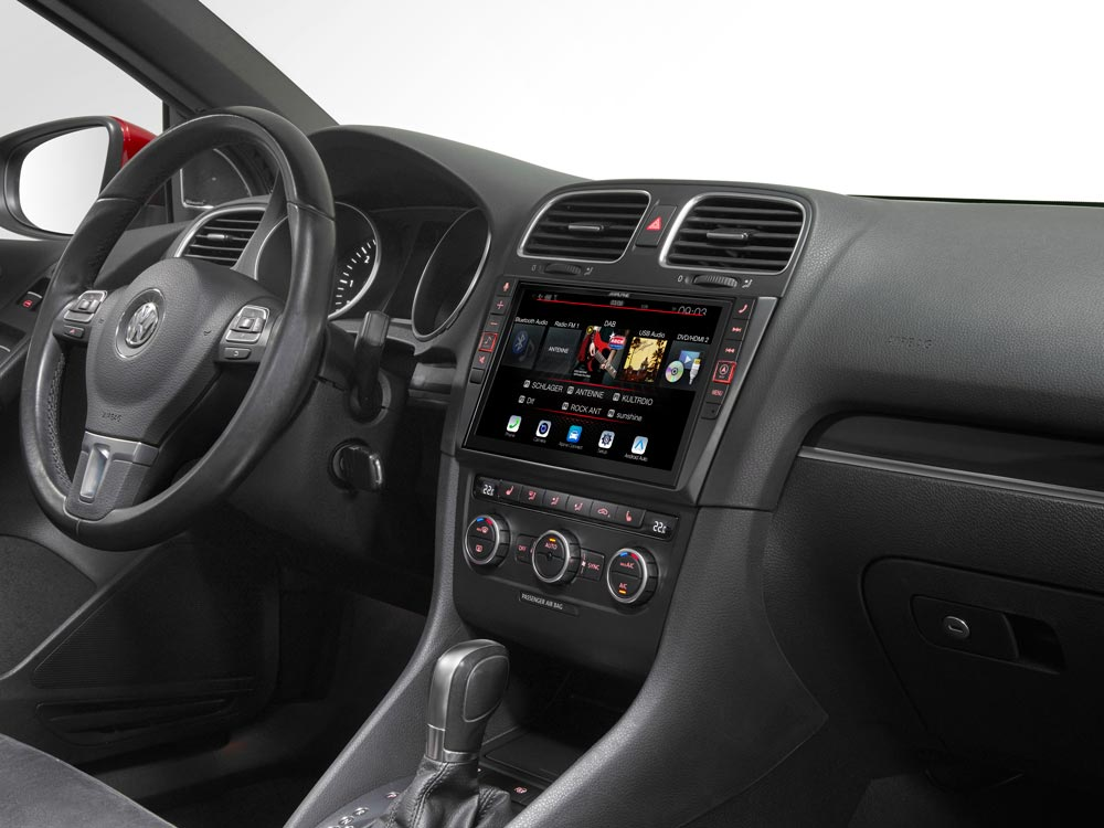 9 Touch Screen Navigation For Volkswagen Golf 6 With Tomtom Maps