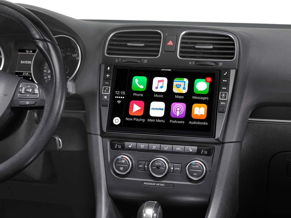 """9"""" Mobile Media System for Volkswagen Golf 6, featuring Apple"""