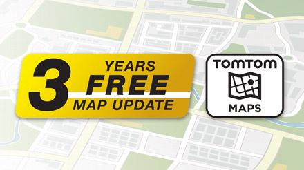 3 Years Free-Of-Charge Map Updates - INE-W611D