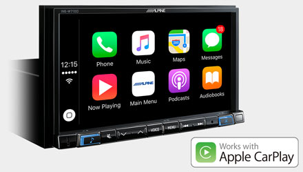 Works with Apple CarPlay - INE-W710D