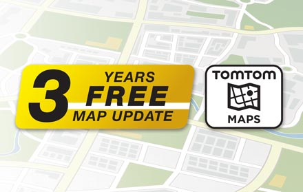 TomTom Maps with 3 Years Free-of-charge updates - X802D-U