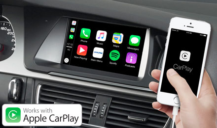 Audi A4 - Works with Apple CarPlay - X702D-A4