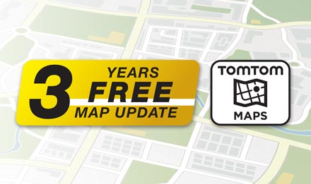 TomTom Maps with 3 Years Free-of-charge updates - X902D-S906